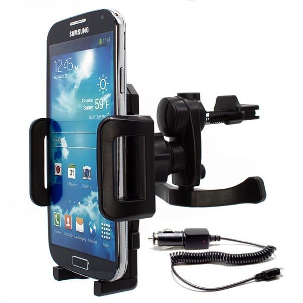360° Universal Auto Lüftungs Halterung Halter inkl. Ladekabel Samsung Galaxy S4