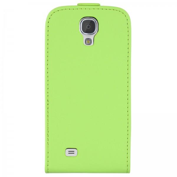 Mobilefox Handy Tasche Schutz Hülle Flip Etui für Samsung Galaxy S4 mini Grün