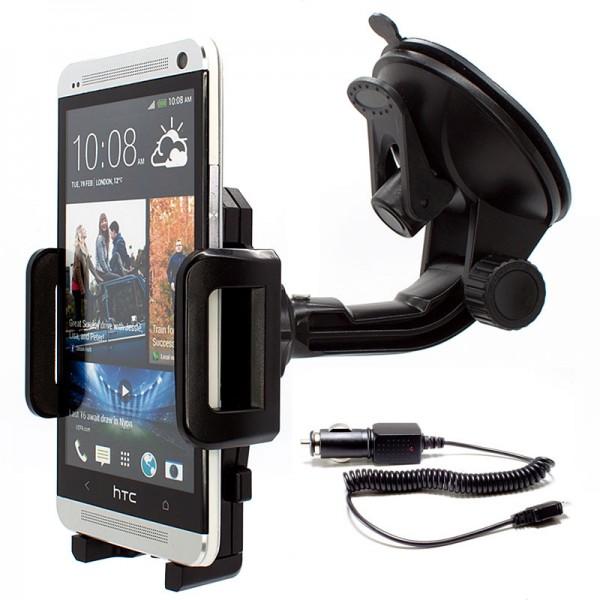 360° Auto KFZ Halter Halterung + Ladekabel für HTC One/S/X/Mini/MAX/M8/M9/M7