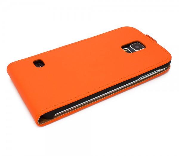 Mobilefox Handy Tasche Schutz Hülle Flip Etui für Samsung Galaxy S5 Dunkelblau