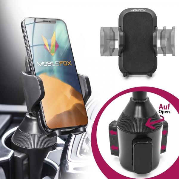 Mobilefox Universal PKW Handy Halter Auto Getränke Dosen Becher Halterung KFZ