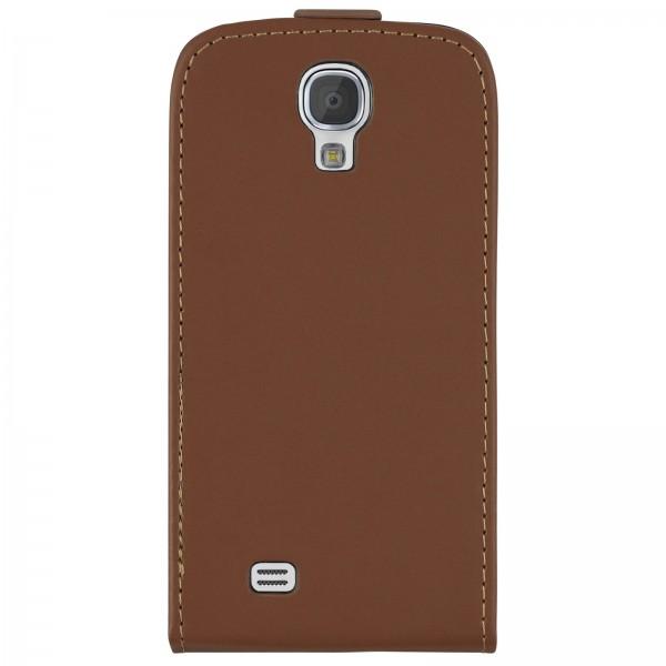 Mobilefox Handy Tasche Schutz Hülle Flip Etui für Samsung Galaxy S4 Braun