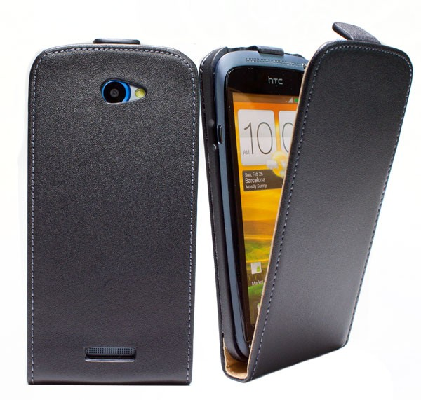HTC One S Tasche Schutz Hülle Case Etui Cover Handy Flip Bumper Screen + Folie