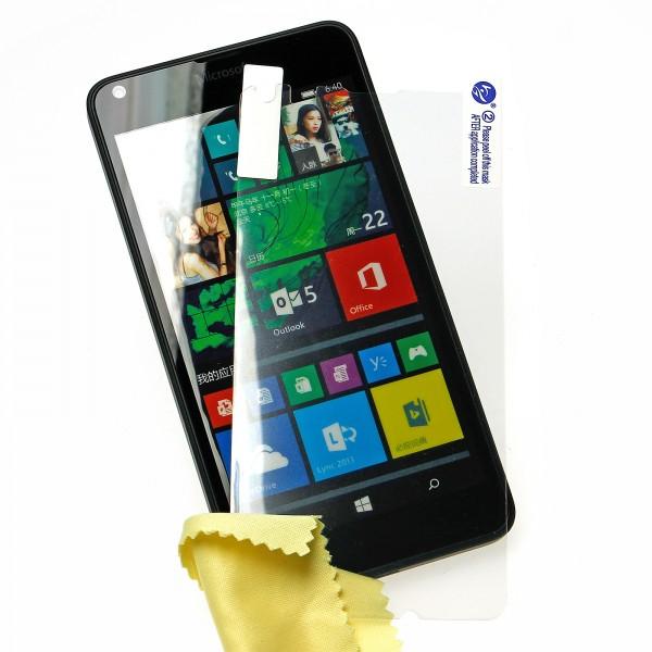 Mobilefox Ultraclear Displayschutzfolie Reinigungstuch Microsoft Lumia 640 transparent 3 Stück