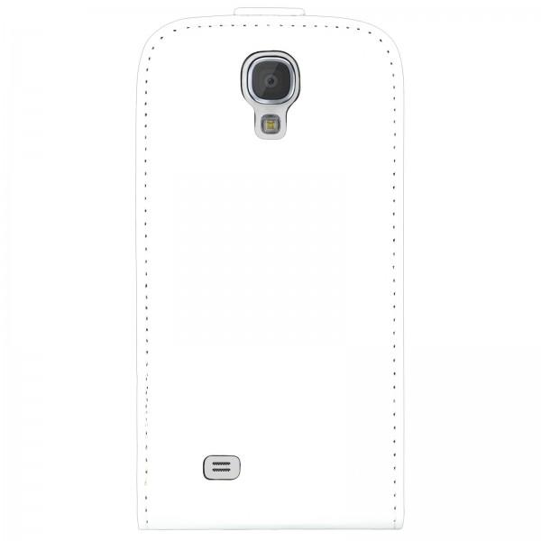 Mobilefox Handy Tasche Schutz Hülle Flip Etui für Samsung Galaxy S4 mini Weiß