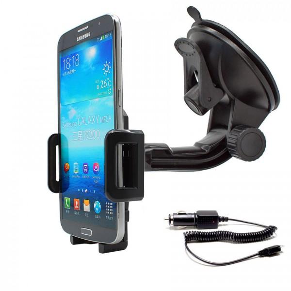 360° Universal Auto KFZ-Halterung Saugnapf inkl. Ladekabel Samsung Galaxy Mega