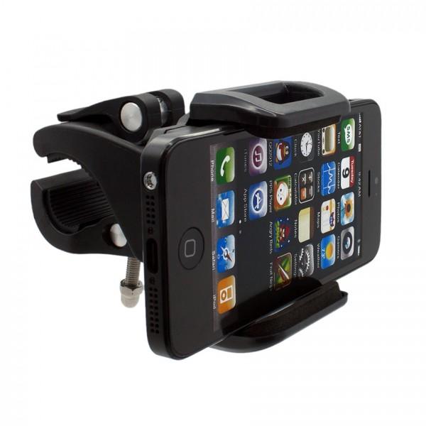 360° Fahrrad Halterung Lenker Halter MTB Bike Schwarz Apple iPhone 5/S