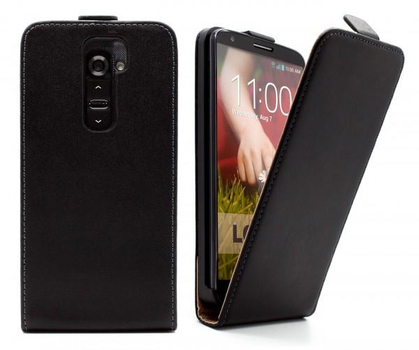 LG Optimus G2 D802 Tasche Schutz Hülle Case Etui Cover Handy Flip Bumper + Folie