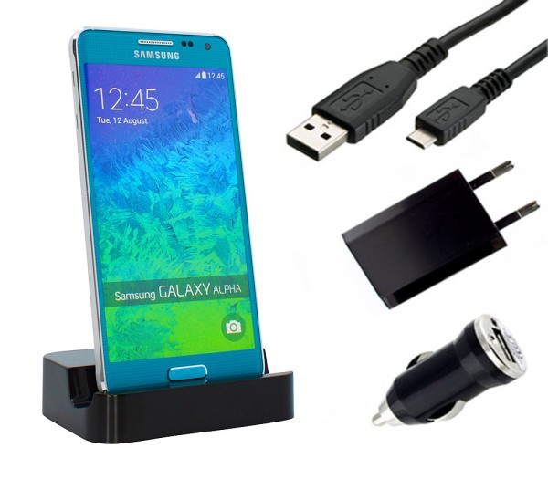 Samsung Galaxy Alpha (SM-G850F) Dockingstation Ladestation Ladegerät Ladekabel