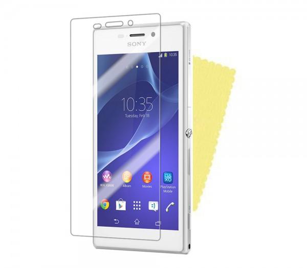 3x DISPLAY HANDY SCHUTZ FOLIE Sony Xperia M2 (D2305/D2306) Screen Protector