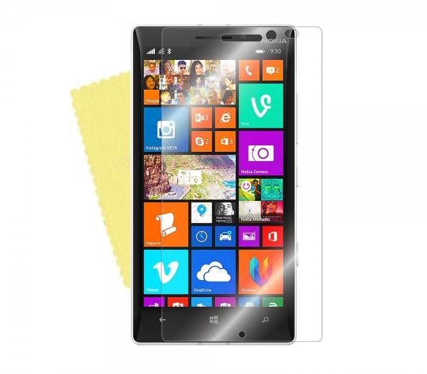 3x DISPLAY HANDY SCHUTZ FOLIE Nokia Lumia 930 + REINIGUNGSTUCH Screen Protector
