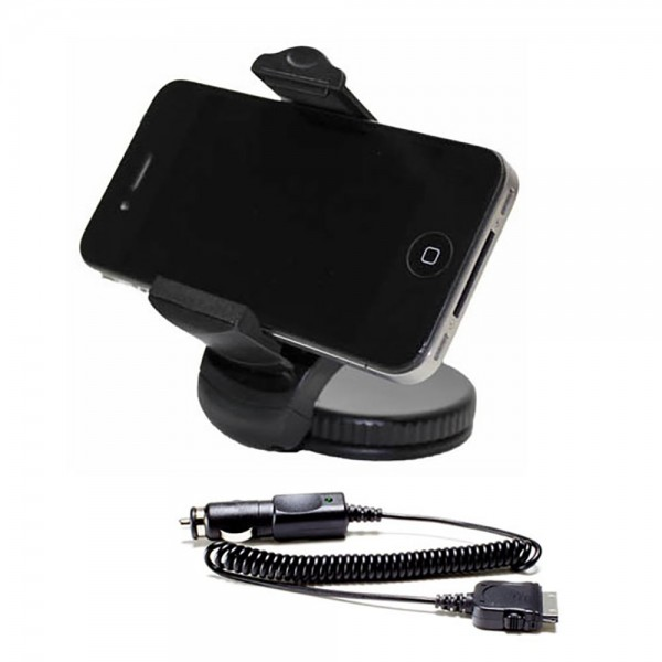 iPhone 4 4S UNI KFZ Auto LKW Halter Halterung Car Holder inkl. Ladekabel