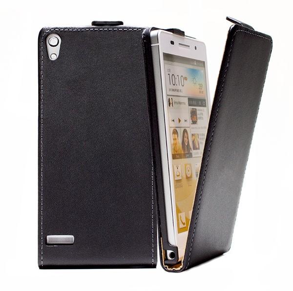 Huawei Ascend P6 Tasche Schutz Hülle Case Etui Cover Handy Flip Bumper + Folie