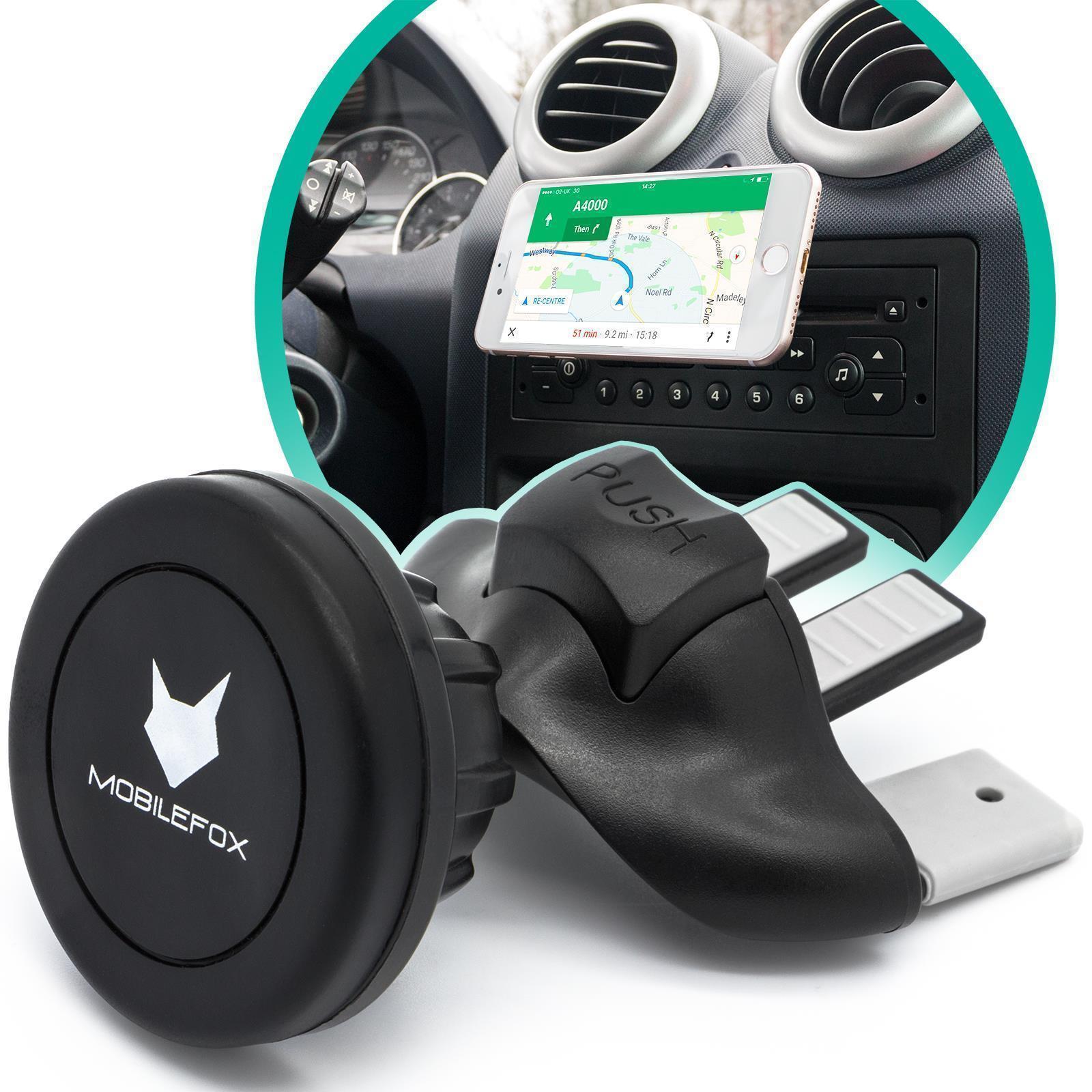 mobilefox 360 magnet cd schlitz kfz halterung auto handy. Black Bedroom Furniture Sets. Home Design Ideas