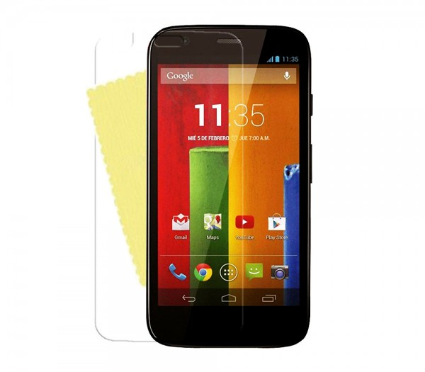 3x DISPLAY HANDY SCHUTZ FOLIE Motorola Moto G + REINIGUNGSTUCH Screen Protector