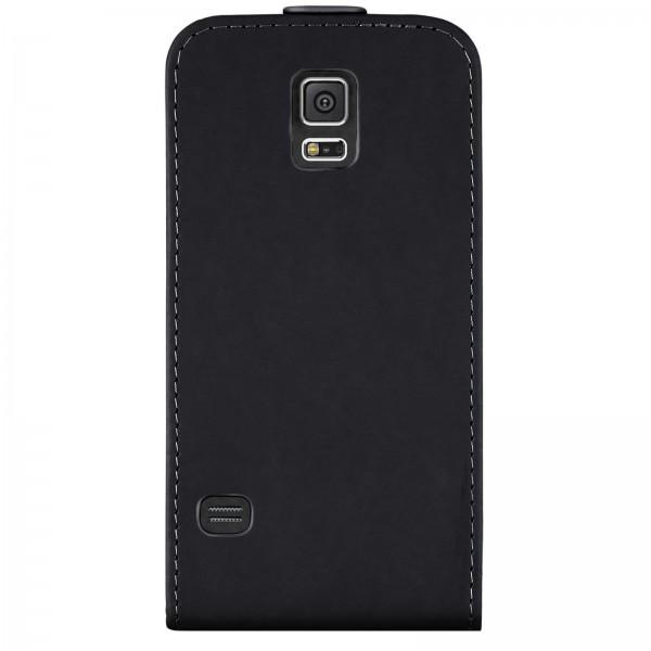 Mobilefox Handy Tasche Schutz Hülle Flip Etui für Samsung Galaxy S5 Schwarz