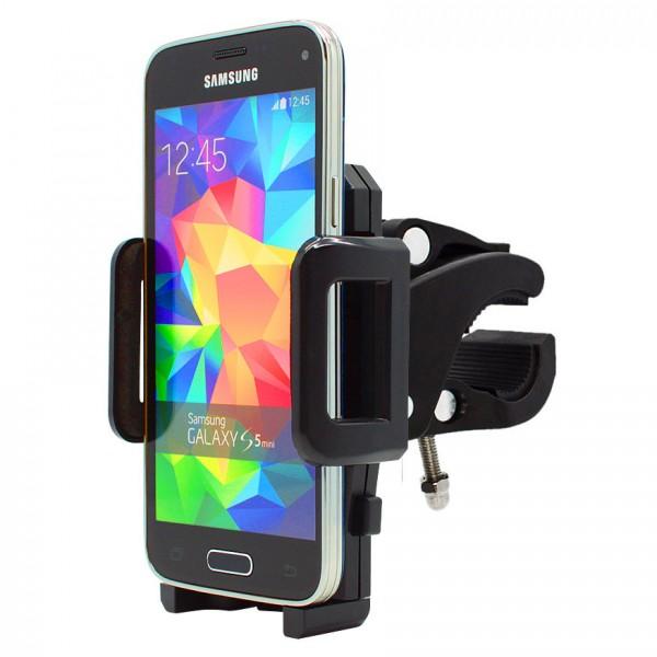 360° Fahrrad Halterung Lenker Halter MTB Bike Schwarz Samsung Galaxy S5 mini