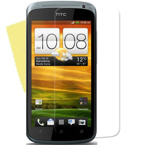 3x DISPLAY HANDY SCHUTZ FOLIE HTC One S Screen protector + REINIGUNGSTUCH
