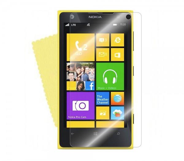 3x DISPLAY HANDY SCHUTZ FOLIE Nokia Lumia 1020 +REINIGUNGSTUCH Screen Protector