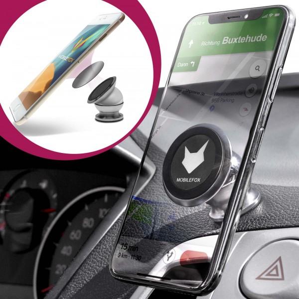 360° Auto Magnet Kugelkopf Halterung Handy KFZ Halter für Universal Silber