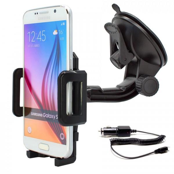 360° Universal Auto KFZ-Halterung LKW Saugnapf inkl. Ladekabel Samsung Galaxy S6