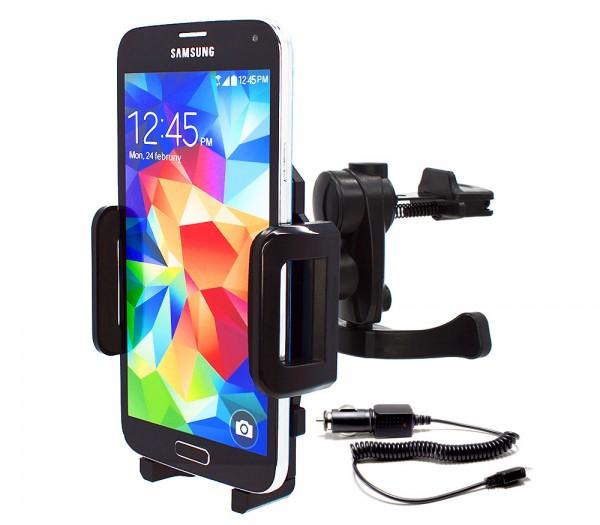 Mobilefox Lüftungs Halterung KFZ Halter Samsung Galaxy S3/S4/S5/S6/Mini/Active 360°