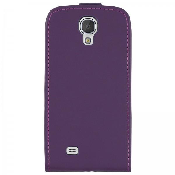 Mobilefox Handy Tasche Schutz Hülle Flip Etui für Samsung Galaxy S4 Lila