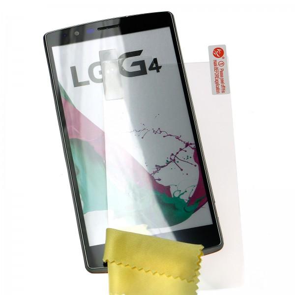 Mobilefox Ultraclear 3x Displayschutz-Folie mit Reinigungstuch LG G4 transparent