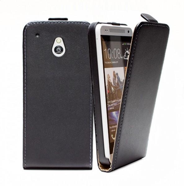 HTC One mini (M4) Tasche Schutz Hülle Case Etui Cover Handy Flip Bumper + Folie