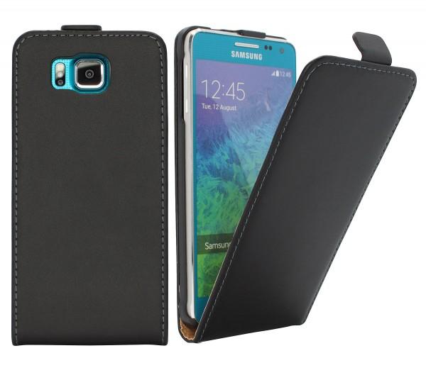 Samsung Galaxy Alpha (SM-G850F) Tasche Schutz Hülle Case Etui Cover Flip