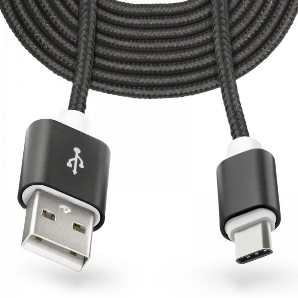 3m USB Typ-C auf USB Kabel Stecker Laden Ladekabel Daten übertragen ...