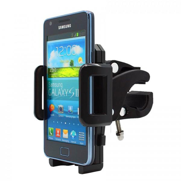 360° Fahrrad Halterung Lenker Halter MTB Bike Schwarz Samsung Galaxy S2/S2 Plus