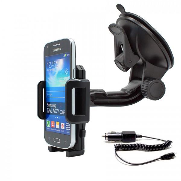 360° Universal Auto Halterung Saugnapf inkl. Ladekabel Samsung Galaxy CORE Plus