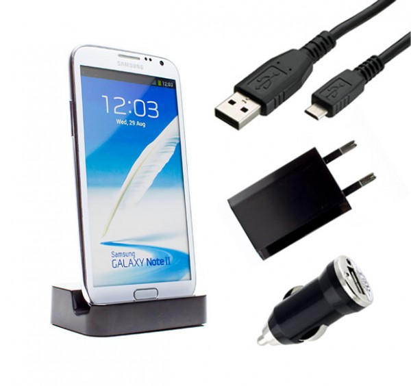 Samsung Galaxy Note 2 GT-N7100 Dockingstation Ladestation Ladegerät Ladekabel