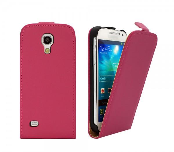 Mobilefox Handy Tasche Schutz Hülle Flip Etui für Samsung Galaxy S4 mini Pink