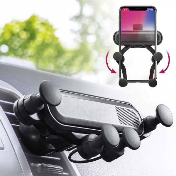 Handy Halterung Auto Smartphone Halter Lüftungsgitter KFZ Mobilefox Universal