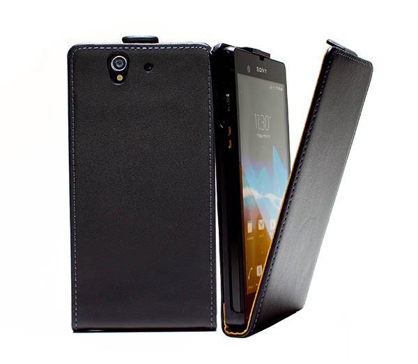 Sony Xperia Z L36h Tasche Schutz Hülle Case Etui Cover Handy Flip Bumper
