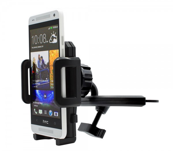 360° KFZ CD Schlitz Schacht Halterung Auto Spalt Halter Handy HTC One Mini (M4)