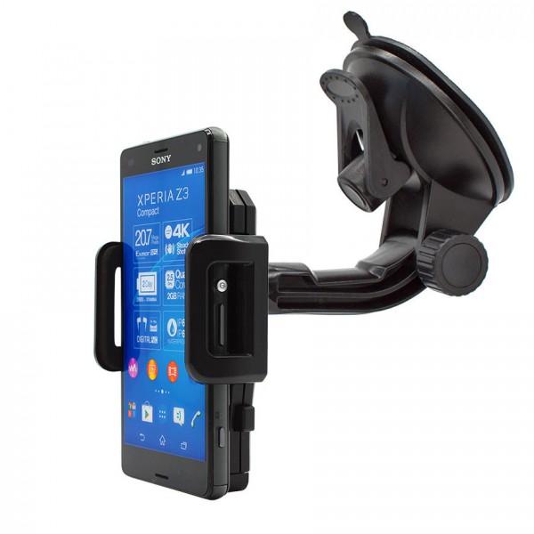 360° Universal Auto KFZ-Halterung LKW Saugnapf Halter Sony Xperia Z3 compact