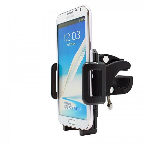 360° Fahrrad Halterung Lenker Halter MTB Bike Schwarz Samsung Galaxy Note 2