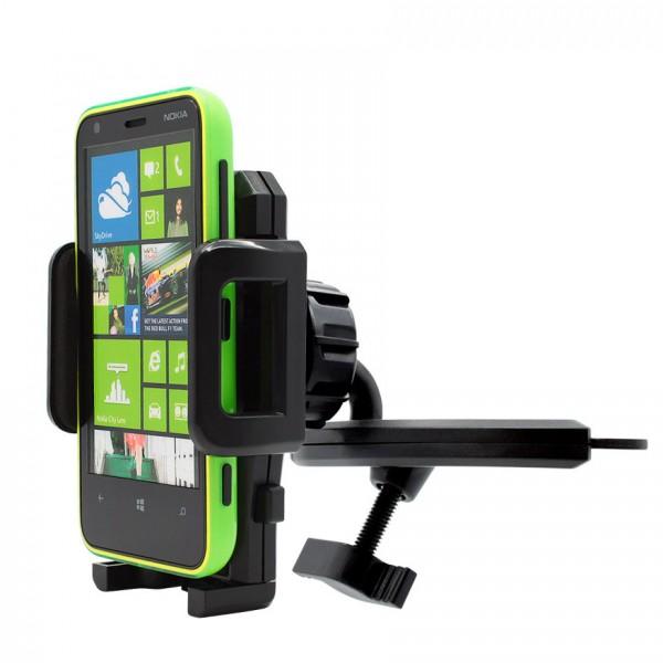360° KFZ CD Schlitz Schacht Halterung Auto Spalt Halter Handy Nokia Lumia 620