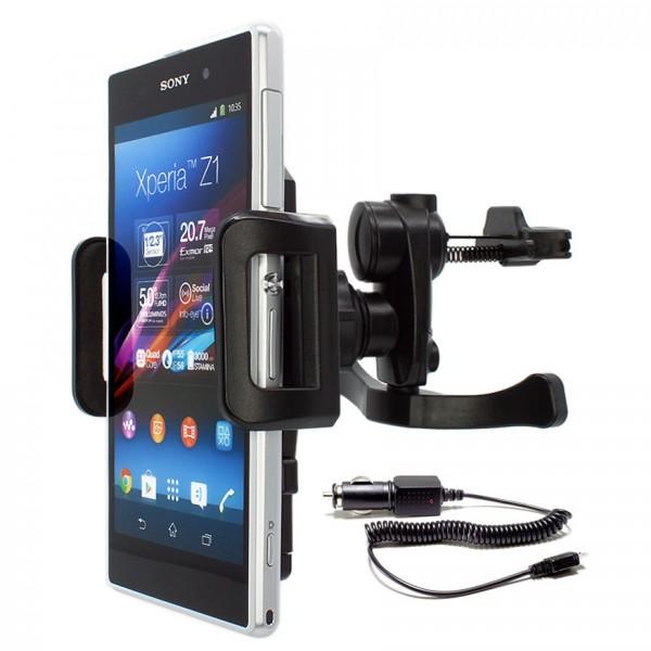 Mobilefox Lüftungs Halterung KFZ Halter Xperia Z/Z1/Compact/Z2/V/L/S/U/J 360°