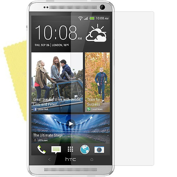 3x DISPLAY HANDY SCHUTZ FOLIE HTC One Max (T6) + REINIGUNGSTUCH Screen Protector