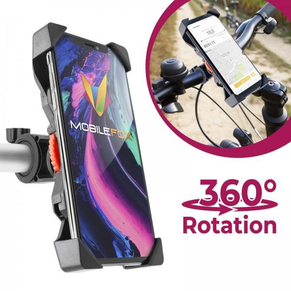 Mobilefox 360° Fahrrad Lenker Handy Halterung Halter Verstellbar Universal