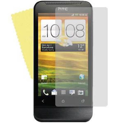 3x DISPLAY HANDY SCHUTZ FOLIE HTC One V Screen protector + REINIGUNGSTUCH