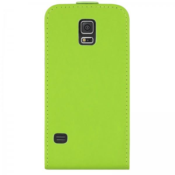 Mobilefox Handy Tasche Schutz Hülle Flip Etui für Samsung Galaxy S5 Grün