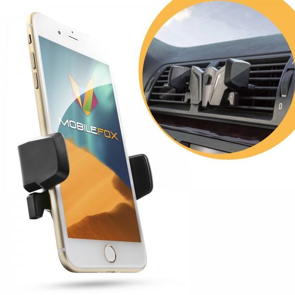 Mobilefox KFZ Handy Fledermaus Lüftungsgitter Halter Halterung Universal Schwarz