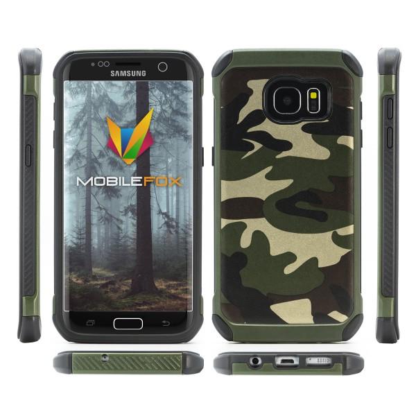 Mobilefox Camouflage Schutz-Hülle Army Case Tasche Bundeswehr Cover Smartphone