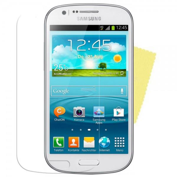 3x DISPLAY HANDY SCHUTZ FOLIE SAMSUNG Galaxy Express GT-I8730 + REINIGUNGSTUCH