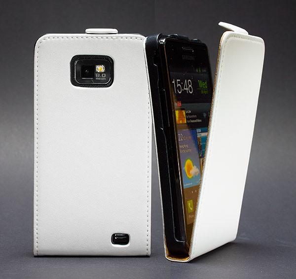 Samsung Galaxy S2 Plus GT-I9105 Tasche Weiss Schutz Hülle Case Etui Cover +Folie
